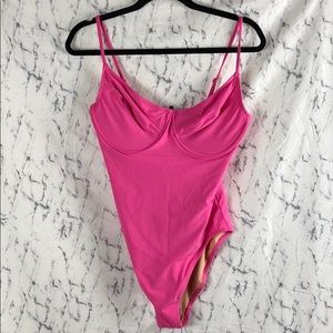 NWT J. Crew Bright Pink One Piece Swimsuit